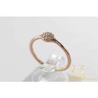 Pandora Rose Gouden Ring met Diamanten 18 karaat rose goud