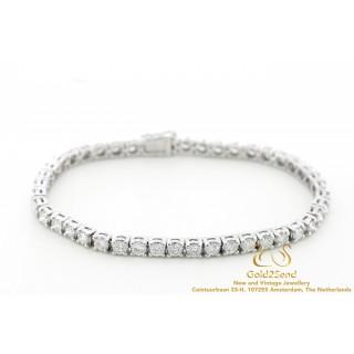 5,1 CT Diamanten Tennisarmband E-G VVS-VS 18 karaat witgoud