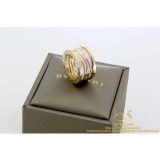 Bvlgari BZERO1 ring 18 karat Rose Gold 356003 55 box and papers