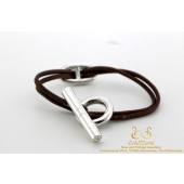 Hermes Chaine D ancre Toggle Cord Bracelet Leather