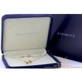 Mikimoto Parel en Diamanten hanger met Collier 18 krt goud