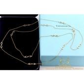 Infinity Tiffany necklace rosegold 18 karat 96cm chain 750