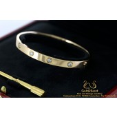 Love Cartier armband rose goud 10 diamanten 18 karaat goud